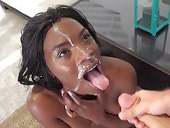 Bukkake Cumshot Facial Interracial