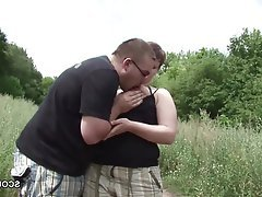 Cumshot German Hardcore Old and Young Outdoor