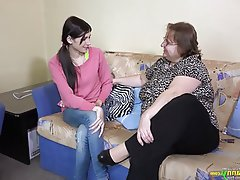 BBW Lesbian Old and Young Granny