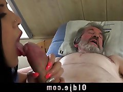 Blowjob Brunette Cumshot Old and Young Teen