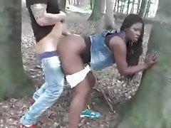 Amateur Cuckold Interracial Outdoor