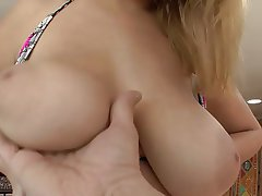 Babe Big Boobs Blonde Blowjob Cumshot