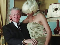 Blonde Blowjob Facial Old and Young Vintage
