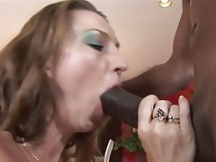 Interracial MILF Blowjob Big Boobs Brunette