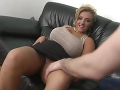 Blonde Mature Creampie MILF