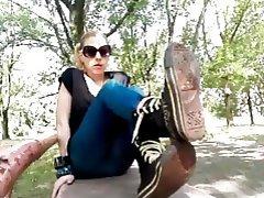 Outdoor Amateur Femdom Foot Fetish