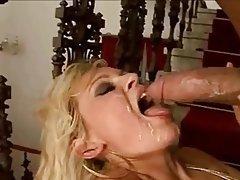 Blonde Cum in mouth Facial
