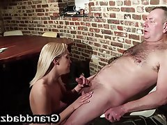 Blonde Blowjob Hardcore Old and Young Fucking