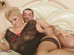 BBW Big Boobs Blonde Granny Mature
