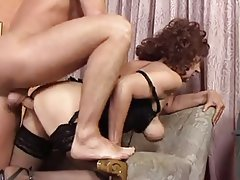 Cumshot German Granny Old and Young Stockings