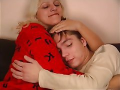 Blonde Blowjob MILF Old and Young Russian