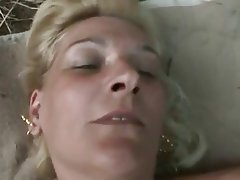 Blonde Granny Old and Young Outdoor POV