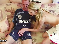 Blonde Blowjob German Old and Young Teen