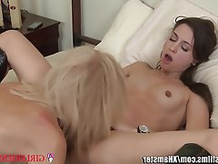 Cunnilingus Lesbian MILF Old and Young Small Tits