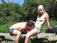 Blonde Outdoor Small Tits Teen Czech