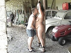 BDSM Bondage Old and Young Orgasm Outdoor